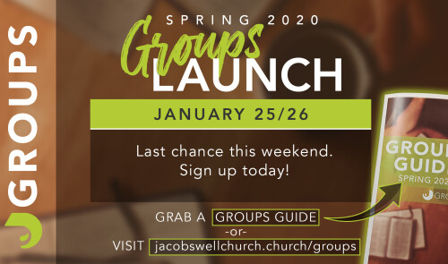 Spring 2020 Groups Launch